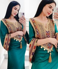 beautiful Tunisia (@tunisian_traditions) • Instagram photos and videos Modesty Fashion, Hijab Fashion, Fashion Dresses, Afghan Clothes, Afghan Dresses, Persian Dress, Flamenco Costume, Summer Dress Patterns, Edwardian Dress