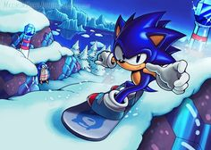 Ice-Cool Sonic by Silly-Hyrule-HQ on DeviantArt