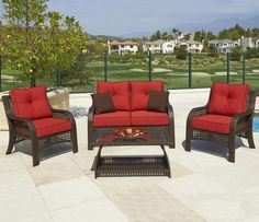Chelsea Outdoor 4 Piece Chat Set by Northcape International ON DISPLAY at Darvin Furniture