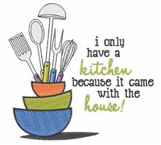 In My Kitchen Sentiments | Free machine embroidery designs, Free ...