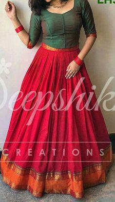 old saree renew Lehenga Designs, Half Saree Designs, Kurti Designs Party Wear, Saree Blouse Designs, Salwar Designs, Long Gown Dress, Lehnga Dress, Saree Gown, Designer Party Wear Dresses