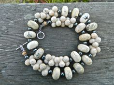 White Opal Necklace Cream colored necklace by ClaudiaHornAtelier, $65.00