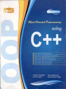 Object Oriented Programming Oop Using C By Tasleem Mustafa It Series Object Oriented Programming Textbook Computer Books