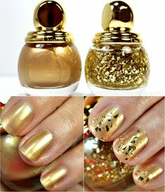 Gilded for the Holidays! Dior Golden Shock Diorific Vernis Nail Polish Swatches