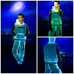 Fiber Optic Light Up Men's Sleeveless Hoodie Color Changing white party New Years Dance Party Christmas Gift Idea Halloween Outfit by RaveNation on Etsy https://www.etsy.com/listing/466910686/fiber-optic-light-up-mens-sleeveless