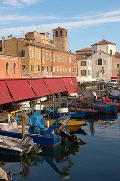 Fishing Boats outside the fish market on Riva Vena canal - Chioggia - Venice - Italy. Photo: Paul Williams