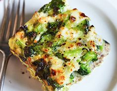 Spinach Broccoli Strata is a great make ahead dish for crowds or a family brunch! Fix approved! Works with all container programs.