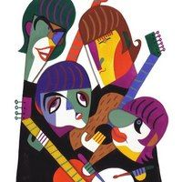 Será que consegue identificar todas as personalidades ilustradas pelo artista David Cowles?