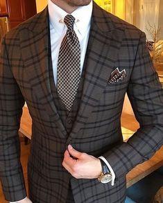 Wedding Suits Amazing suit style for men - Mens Fashion Blog, Mens Fashion Suits, Mens Suits, Fashion Ideas, Gentleman Mode, Gentleman Style, Best Suits For Men, Cool Suits, Suit For Men