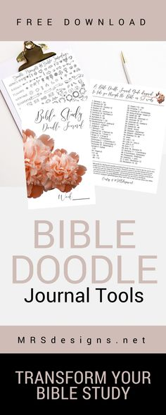 FREE Downloads. Print-able Bible Doodle Journal Tools. MRSdesigns.net
