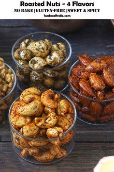 Nut Recipes, Sweets Recipes, Indian Food Recipes, Appetizer Recipes, Vegetarian Recipes, Diwali Recipes, Appetizers, Desserts, Spiced Almonds