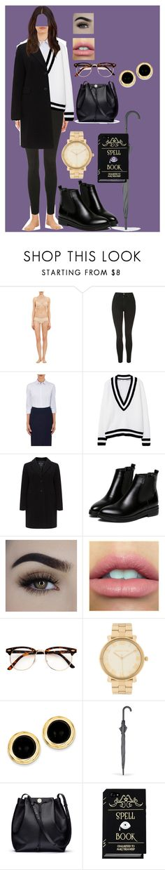 """""""Sin título #385"""" by coldprincess on Polyvore featuring moda, Cosabella, Topshop, Isabel Marant, MANGO, WithChic, Michael Kors, Kevin Jewelers, The Row y plus size clothing"""
