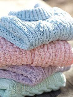 Designs from 10 Beautiful Aran Knits This collection of Hayfield Bonus Aran knits has been designed in a selection of soft, feminine shades – Palest Purple, Pastel Pink, A Touch of Blue and A Hint of Green. These pretty, feminine shades have been