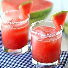 Light and Refreshing Watermelon Margaritas!  #foodgawker