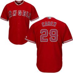 Men s Los Angeles Angels of Anaheim Majestic Red Cool Base Custom Jersey 1b060f29d