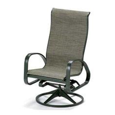 Telescope Casual Primera Sling Supreme Adjustable Swivel Rocking Patio Chair (Set of 2) Color: Textured Snow, Fabric: Denver