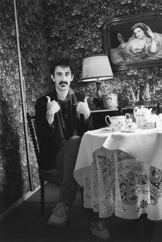 American singer and composer Frank Zappa in Paris, 1981, Paris, France © Albane Navizet/Kipa/Corbis