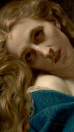 Hugues Merle Mary Magdalene in the Cave, 1868 (detail)