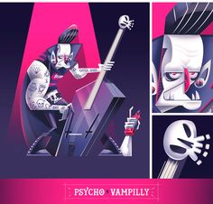 DIE-BILLY (psychobilly monster band) on Behance