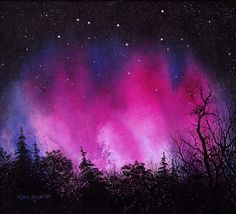 Northern Lights painting, love it!