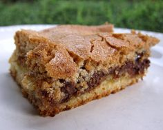 Mud Hen Bars~   The bars have chocolate and marshmallows sandwiched between a cookie and crunchy brown sugar meringue layer