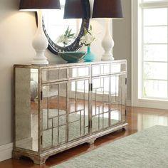 HGTV HOME Furniture Collection, Antiqued Mirror Credenza