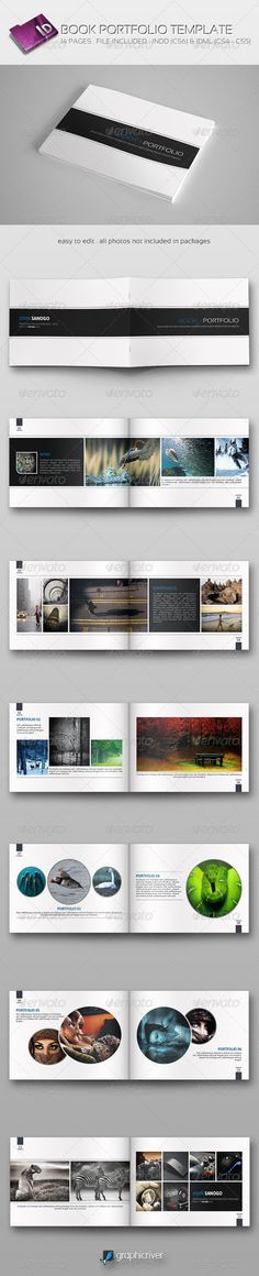 Book Portfolio Template - Portfolio Brochures                                                                                                                                                                                 More