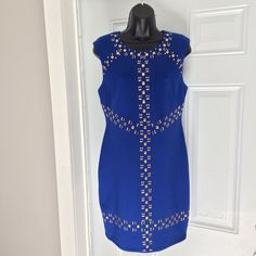 Adorable Blue With Gold Trim Dress