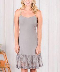 edd3ba0d41e Matilda Jane Clothing Gray After the Rain Lace-Trim Dress Extender - Women