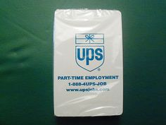 United Parcel Service Playing Cards (UPS). The cards face reads: PART-TIME EMPLOYMENT ~ 1-888-4UPS-JOB ~ www.upsjobs.com