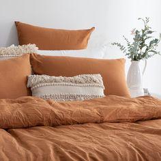 Boho Duvet Cover, Comforter Cover, Duvet Cover Sets, Comforter Sets, Burnt Orange Bedroom, Orange Bedding, Orange Bedroom Decor, Orange Duvet Covers, 100 Cotton Duvet Covers