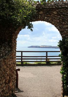 Sea views from the Connaught Gardens, Sidmouth | South Devon | England