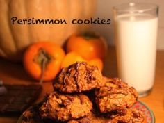 Persimmon cookies recipe is easy to make and will result in healthy, super soft and delicious cookies that you will surly love! Persimmon Cookie Recipe, Persimmon Cookies, Persimmon Bread, Persimmon Recipes, Low Carb Recipes, Baking Recipes, Cookie Recipes, Paleo Recipes, Lunch Box Recipes