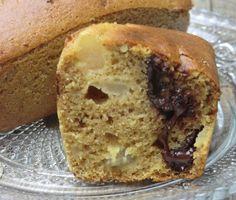 Petits cakes au chocolat et à la poire sans gluten et sans lactose