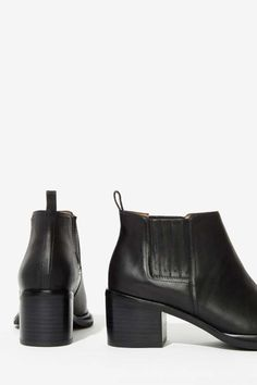 Jeffrey Campbell Eldin Leather Chelsea Boot - Flats | Ankle | Jeffrey Campbell