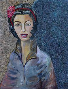 Chenco. Cecilia Porras Porras. Mix medium on canvas 21.75 x 28 inches 2016