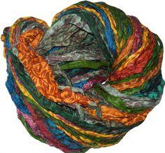 jewelry making Print Free s/&h 100g Sari Silk Ribbon craft chiffon ribbon yarn