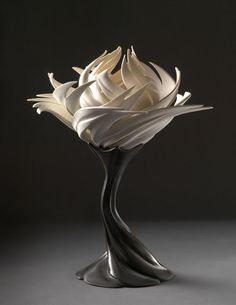"loon-whisperer: "" crossconnectmag: "" Nature Inspired Porcelain Sculptures by Jennifer McCurdy Ceramic artist Jennifer McCurdy (born in Newport, Rhode Island is loved dealing with porcelain and. Pottery Sculpture, Sculpture Art, Sculptures, Lotus Sculpture, Ceramic Clay, Ceramic Pottery, Kintsugi, Natural Forms, Ceramic Artists"