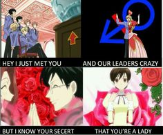 That sums up Ouran High School Host Club. Sing it to call me maybe Colégio Ouran Host Club, Ouran Highschool Host Club, Host Club Anime, High School Host Club, Anime Boys, Me Anime, I Love Anime, Manga Anime, Anime Stuff