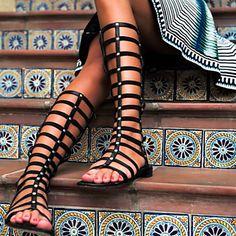 DONNE - Stivali - Stivali - Piatto - Stivali alti - DI Finta pelle - Nero del 2015 a €52.24