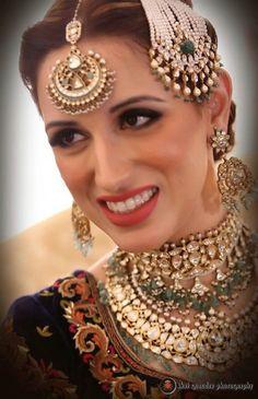 polki jewellery , royal jewellery , muslim bride , jhoomer , passa , maang tikka , layered necklace , earrings