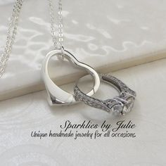 Close to your Heart Ring Holder Necklace Wedding Ring Holder