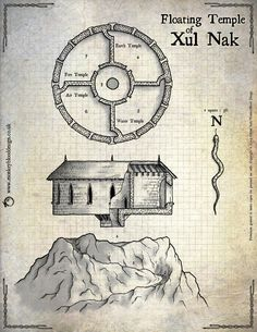 Map Monday: The Floating Temple of Xul Nak | OSR Today