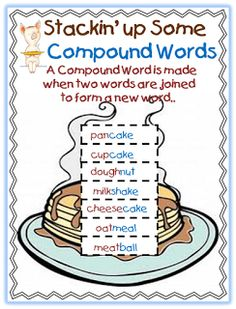 Compound words. Perfect for learning in a fun creative way!