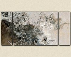 Oversize modern art triptych canvas print from by FinnellFineArt