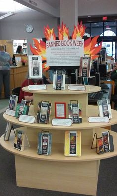 Banned Book Week display at the Graham Public Library.