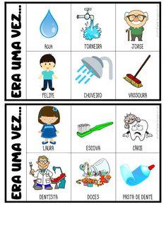 FICHAS PARA PRODUÇÃO DE TEXTO Preschool Colors, Preschool Learning Activities, English Lessons, 5th Grades, Betty Boop, Speech Therapy, Projects For Kids, Bingo, Professor