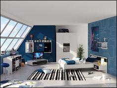 teen boy room decor
