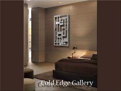 Cayman 1 - Aluminum Sculpture Modern Metal Wall Art, Large Metal Wall Art, Modern Luxury, Modern Contemporary, Glittering Lights, Wall Anchors, Panel, Art Decor, Home Decor