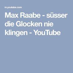 Max Raabe - süsser die Glocken nie klingen - YouTube